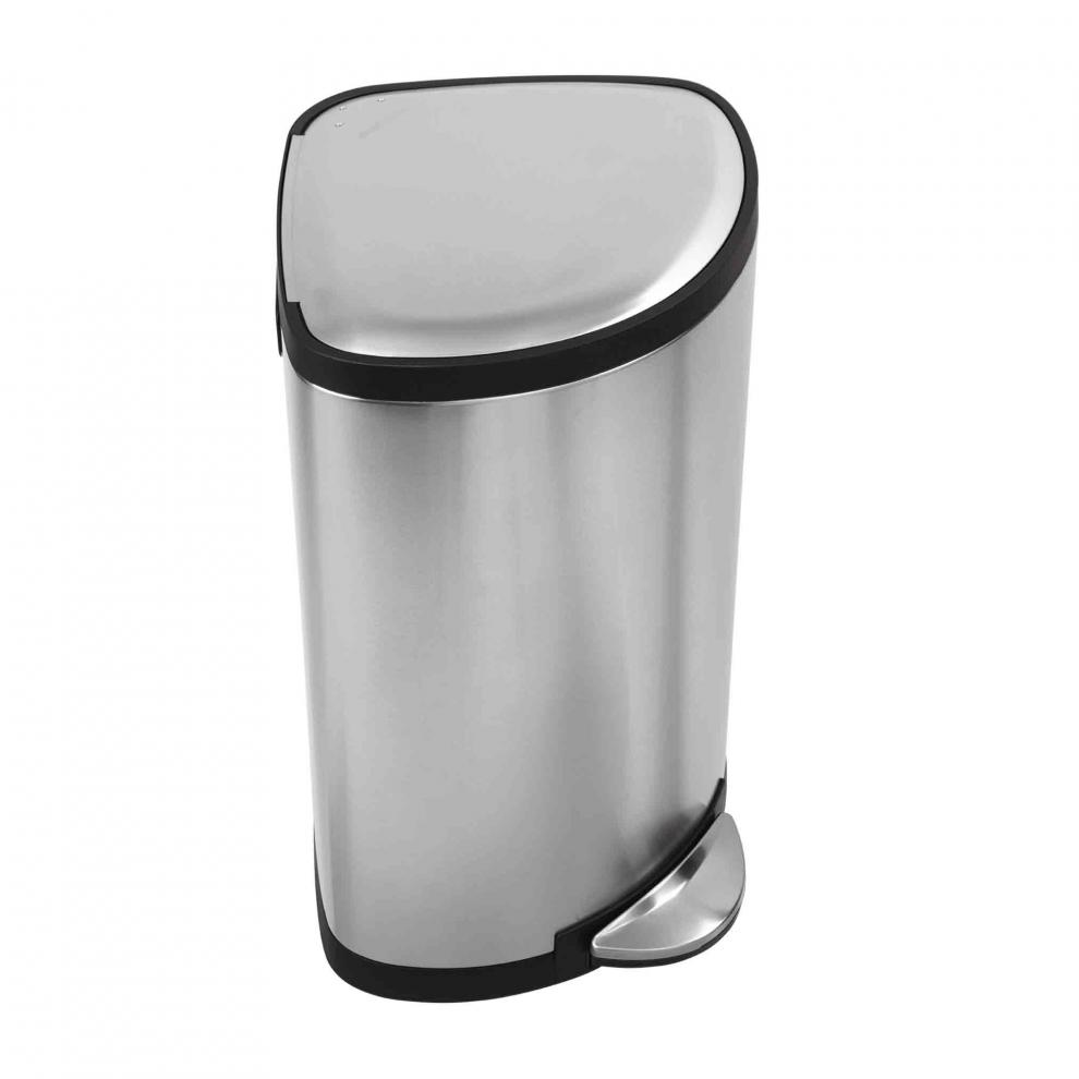Simple human poubelle d 39 angle 38 litres new anti taches - Poubelle d angle cuisine ...