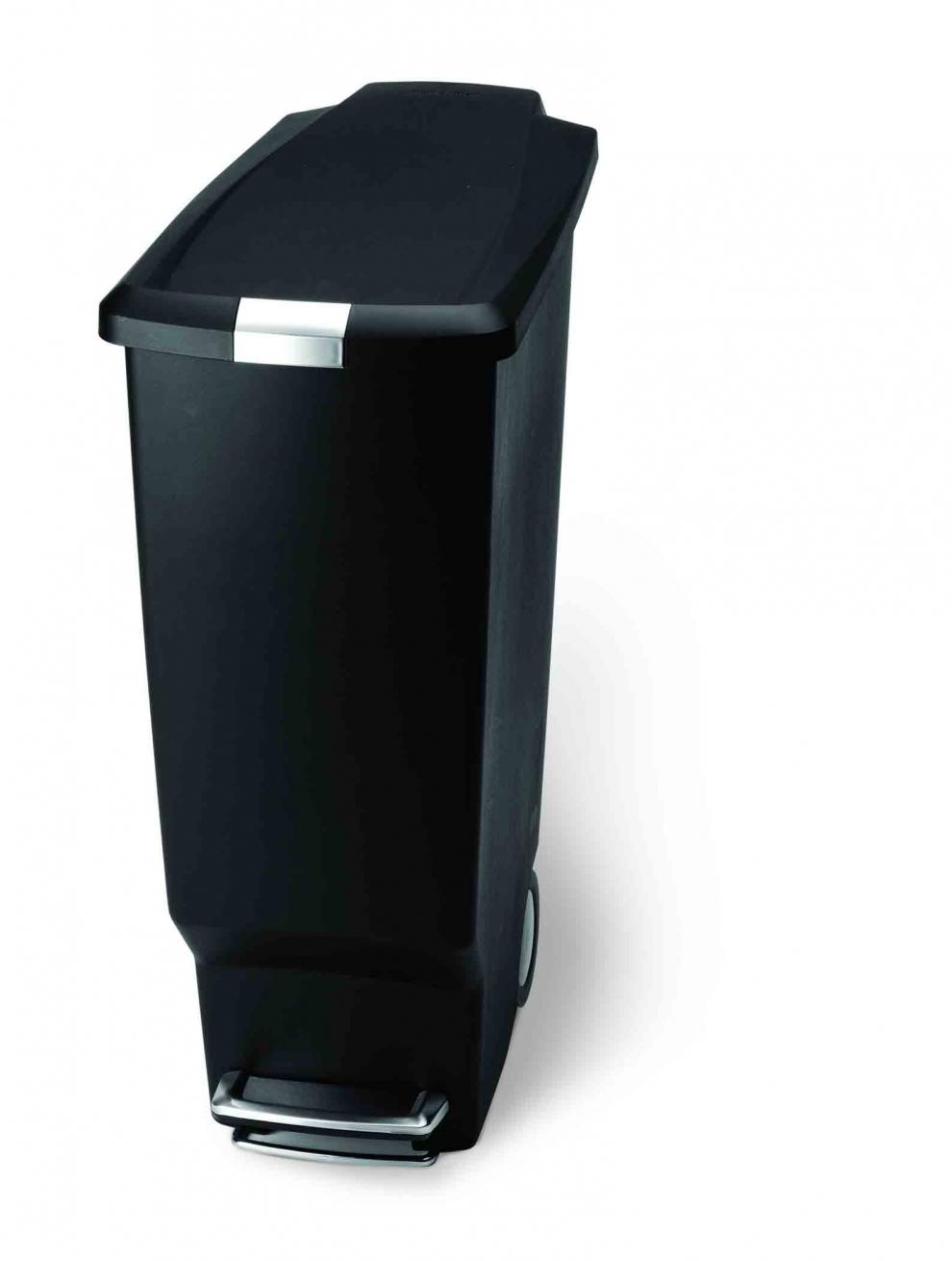 simple human poubelle slim 40 litres noire cw1361. Black Bedroom Furniture Sets. Home Design Ideas