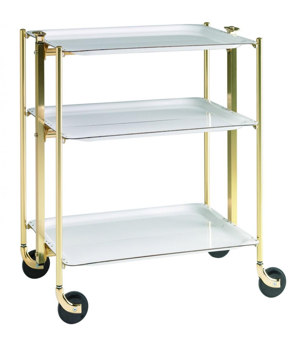 Platex table roulante pliante textable dor 3 plateaux blanc 500351001 500351001 achetez - Table roulante 3 plateaux ...