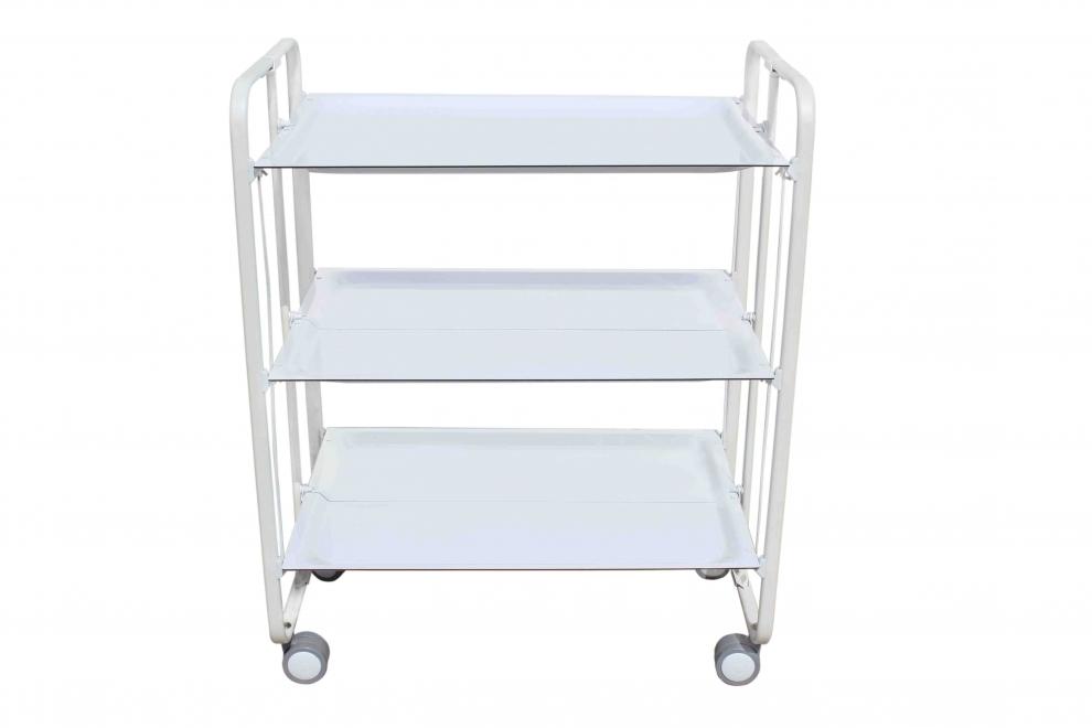 Don hierro table roulante pliante blanche 3 plateaux blanc 230bb 230bb achetez au meilleur - Table roulante 3 plateaux ...