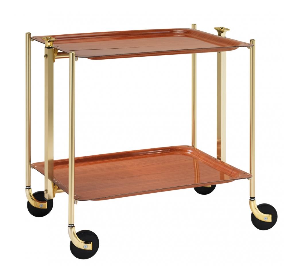platex table roulante pliante textable dor 2 plateaux bois orme 500251704 500251704. Black Bedroom Furniture Sets. Home Design Ideas