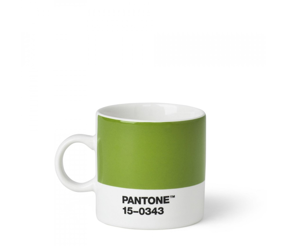 pantone tasse espresso pantone en porcelaine 12 cl vert 15 0343 101040343 101040343. Black Bedroom Furniture Sets. Home Design Ideas