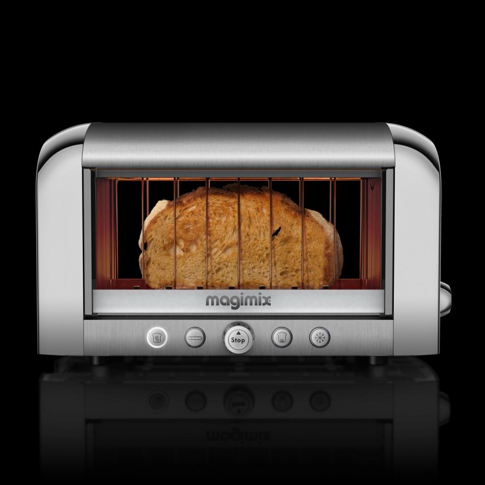 Magimix toaster magimix vision acier bross 11538 11538 achetez au meilleur prix chez - Grille pain magimix vision ...