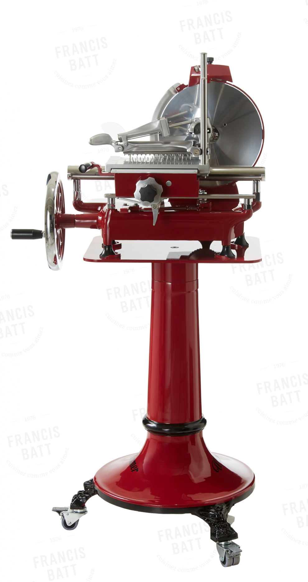 wismer trancheuse jambon manuelle rouge diam tre 25 cm wmr250 wmr250 achetez au meilleur. Black Bedroom Furniture Sets. Home Design Ideas