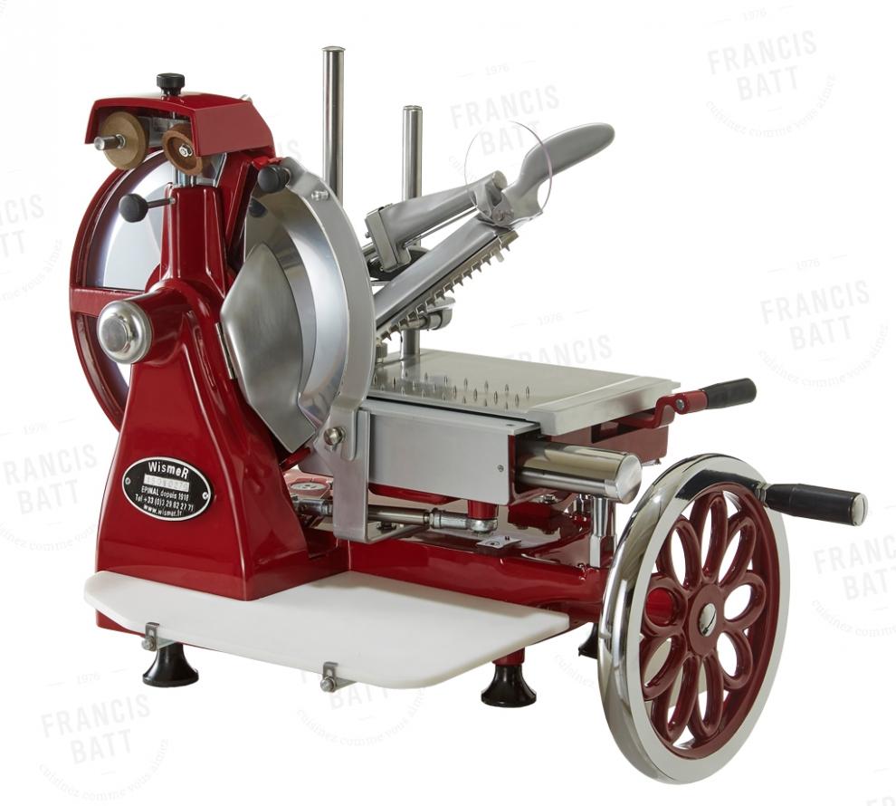 wismer trancheuse jambon manuelle rouge diam tre 30 cm. Black Bedroom Furniture Sets. Home Design Ideas